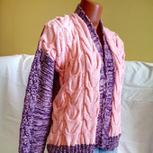 Бомбер из хлопка ручной вязки от Knit by Heart