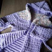 Плюшевый халатик для ребенка 4-6 лет