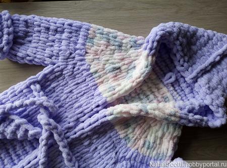 Плюшевый халатик для ребенка 4-6 лет ручной работы на заказ