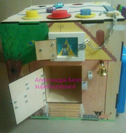 """Развивающий куб """"Кошка в окошке"""" ручной работы на заказ"""