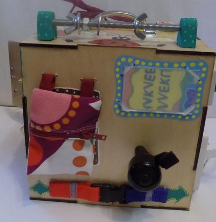 """Развивающий куб """"Кошки-мышки"""" музыкальный ручной работы на заказ"""