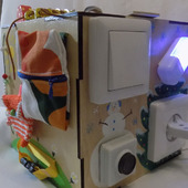"""Развивающий куб """"Времена года"""" с ящиком"""
