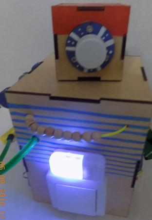 """Бизиборд """"Робот Пират"""" ручной работы на заказ"""