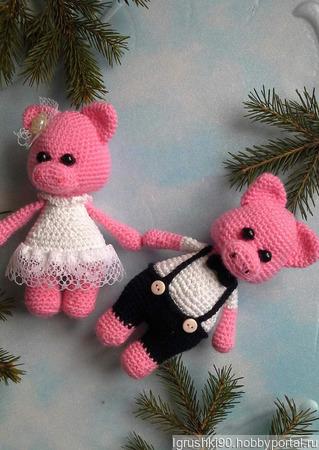 Свинки Леди и Джентльмен ручной работы на заказ