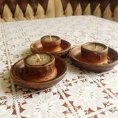 Керамические подсвечники со свечой