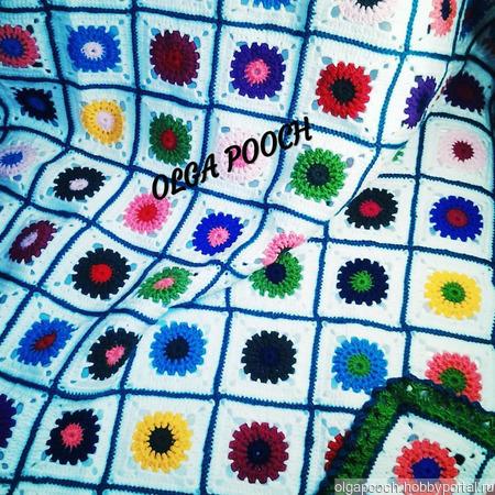 """Плед для детской кроватки """"Сто цветов"""" ручной работы на заказ"""