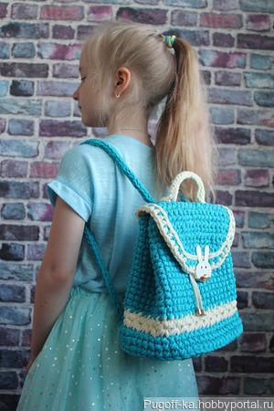 Детский рюкзак с зайчиком ручной работы на заказ