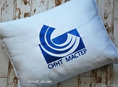 Подушка именная с вышивкой ручной работы на заказ
