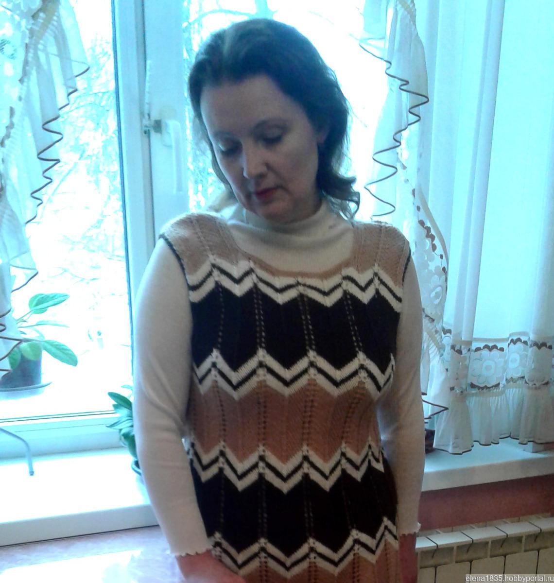 женский теплый вязаный сарафан купить в интернет магазине