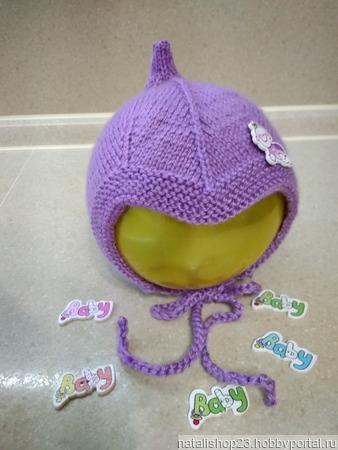 Шапочка-луковка детская вязаная ручной работы на заказ