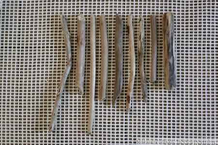 Тонкие деревяшки 19-33 см белые дрифтвуд Лот 12 набор 4 ручной работы на заказ