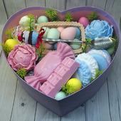 Пасхальный набор из мыла и ложки с декором