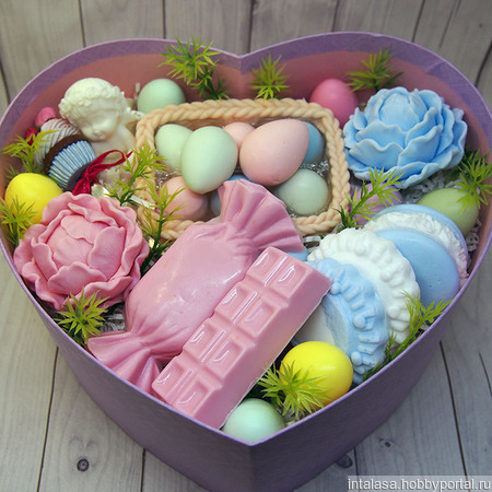 Пасхальный набор из мыла и ложки с декором ручной работы на заказ