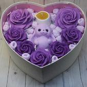 Подарочный набор из мыла и массажной свечи