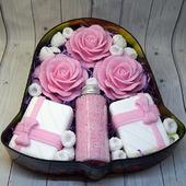 Подарочный набор из мыла ручной работы и жемчуга для ванн