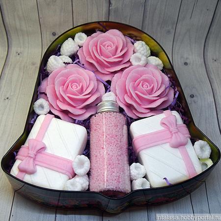 Подарочный набор из мыла ручной работы и жемчуга для ванн ручной работы на заказ