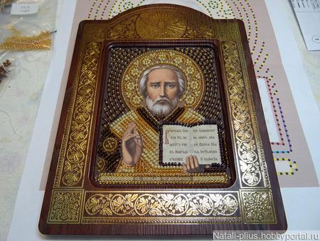 Икона Николай-Чудотворец ручной работы на заказ