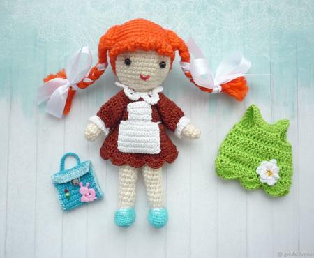 Кукла вязаная ручной работы на заказ
