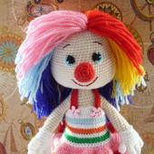 Клоун вязаный