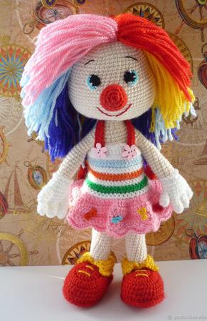Клоун вязаный ручной работы на заказ