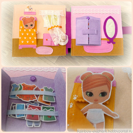 """Книга из фетра """"Кукольный домик"""" ручной работы на заказ"""