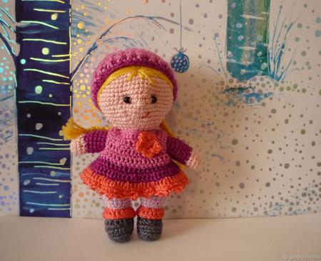 Кукла вязаная крючком ручной работы на заказ