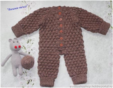 """Комбинезон для малыша """"Медвежонок"""" ручной работы на заказ"""