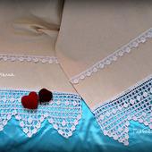 Венчальный, свадебный рушник из льна.