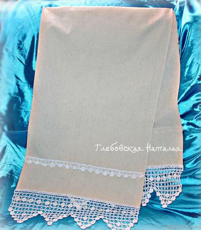 Венчальный, свадебный рушник из льна. ручной работы на заказ