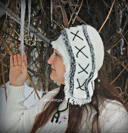 Женская шапочка в этно-стиле ручной работы на заказ