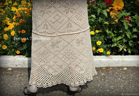"""Платье """"Берегиня"""" из хлопка ручной работы на заказ"""