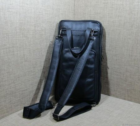 """Кожаная сумка-рюкзак для барабанных палочек """"Ритм"""" ручной работы на заказ"""