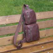 """Мужская кожаная сумка на одно плечо """"Кречет"""""""