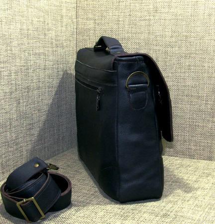 """Мужской кожаный портфель """"Деловой стиль"""" ручной работы на заказ"""