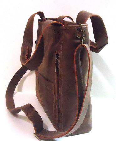 """Женская кожаная сумка """"Рапсодия"""" коньячного цвета ручной работы на заказ"""