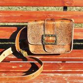 """Женская сумочка на плечо с рисунком """"Inca"""" рыжая"""