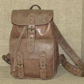 """Городской кожаный рюкзак """"Земфира"""" ореховый"""