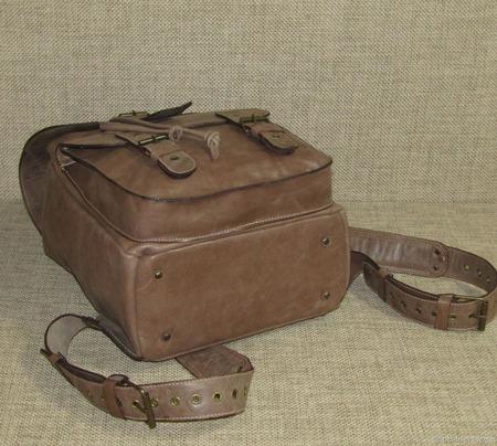 """Городской кожаный рюкзак """"Земфира"""" ореховый ручной работы на заказ"""