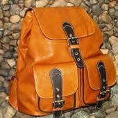 Женский кожаный рюкзак ГЛОРИЯ рыжий