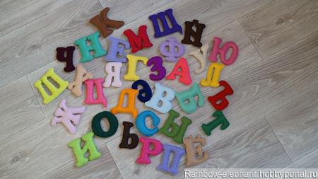 Мягкий алфавит из фетра ручной работы на заказ