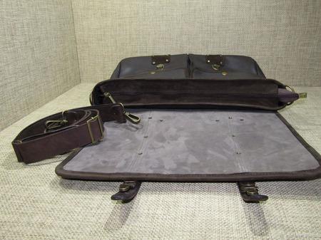 """Мужская кожаная сумка """"Астерион"""" maxi цвета темный шоколад ручной работы на заказ"""