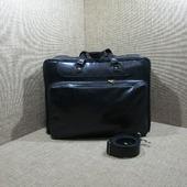 """Мужская кожаная деловая сумка """"Ганимед"""" maxi черный хром"""
