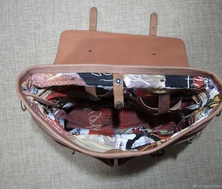 "Мужская кожаная сумка ""Александр"" орехового цвета ручной работы на заказ"