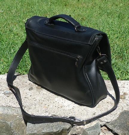 """Мужской кожаный портфель """"Амбассадор"""" ручной работы на заказ"""