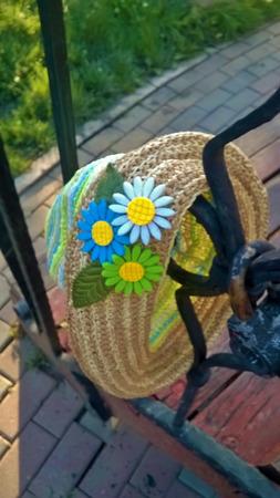 Детская панамка из раффии ручной работы на заказ