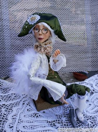 """Коллекционная кукла """"Поговорим? или Разговор с ангелом"""" ручной работы на заказ"""