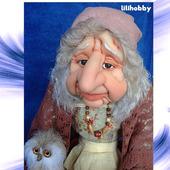 Кукла Баба Яга с Совушкой и путеводным клубочком