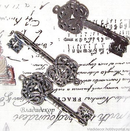 Накладка декор ключ подвеска Ф-205 украшение ручной работы на заказ