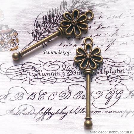 """Накладка """"Ключ"""" Ф-101 украшение ручной работы на заказ"""