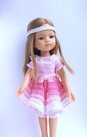 Платье для куклы Паола Рейна ручной работы на заказ